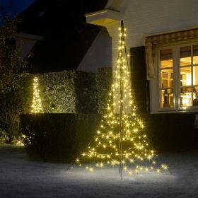 2 m Fairybell juletræbelysning på krydsfod (240 LED lys med blink)